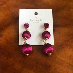 Kate Spade Linear Graduated Ball Earrings NWT